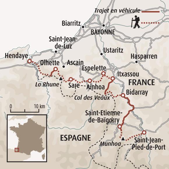 Les charmes fous du pays basque randonn e pays basque randonn e saint jean pied de port - Saint jean pied de port carte ...