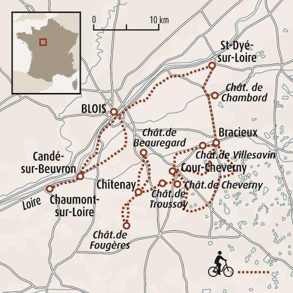 Circuit Carte France Les Chteaux De La Loire En Famille