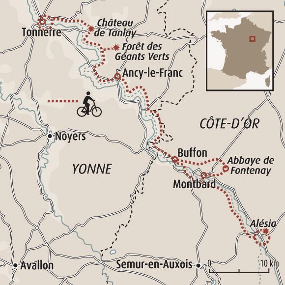 Canal De Bourgogne Carte.Canal De Bourgogne A Velo Bourgogne A Velo