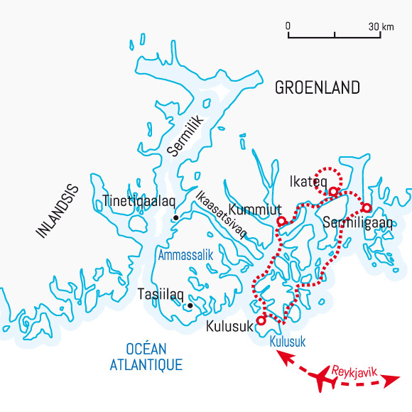 Circuit Carte Groenland Sur Les Traces De Paul Emile Victor