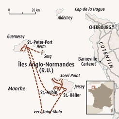 Circuit carte France : Iles Anglo-Normandes