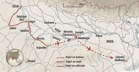 Carte De Linde Avec Le Gange.Rajasthan Et Plaines Du Gange La Magie De L Inde Voyage Rajasthan