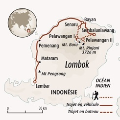Circuit carte Indonésie : Extension sur Lombok : ascension du Rinjani