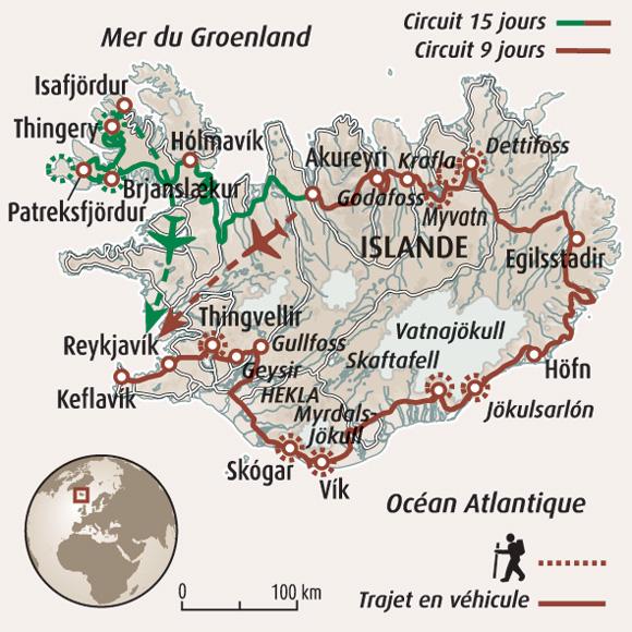 Islande Glaicer Et Volcan