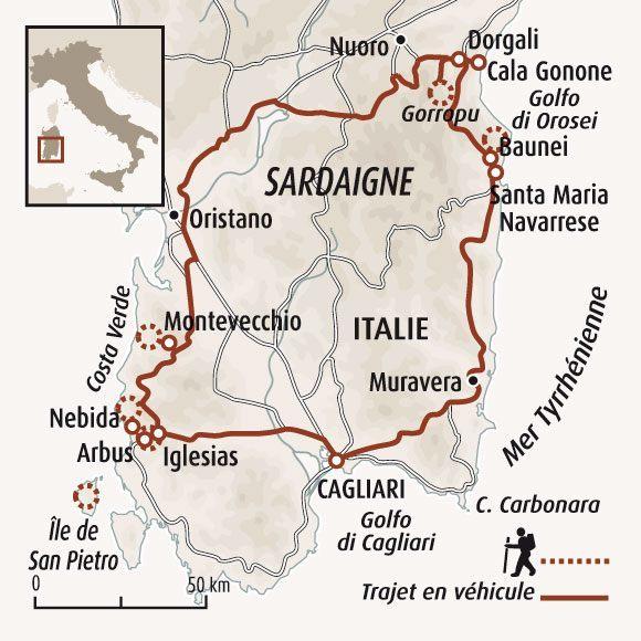 Carte Italie Et Sardaigne.La Sardaigne Un Paradis Authentique Randonnee Sardaigne Voyage
