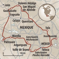 Circuit carte Mexique : Les monarques du Mexique