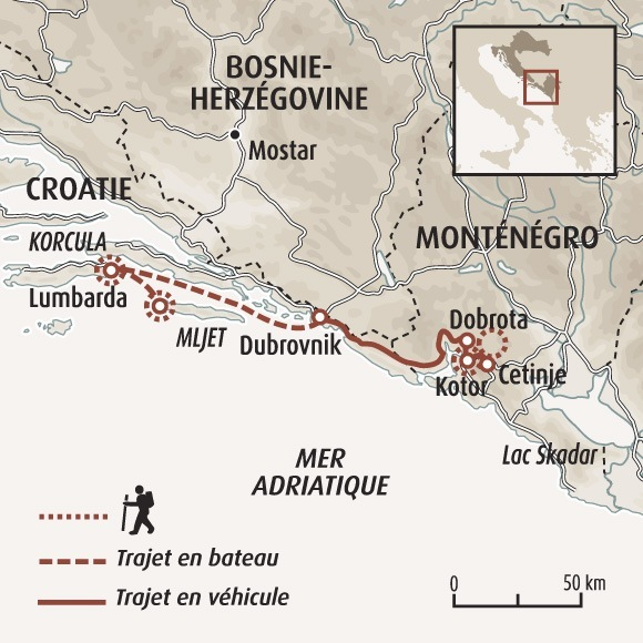 Carte Cote Croatie.Voyage De Decouverte Du Montenegro Et De La Croatie