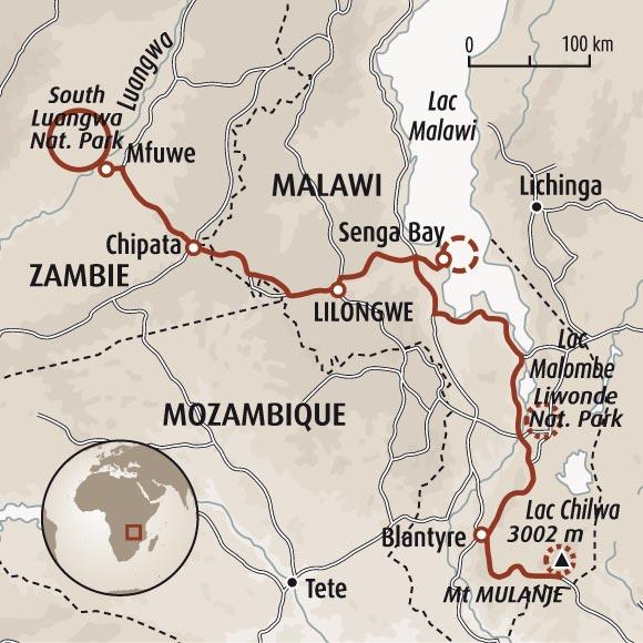 Circuit Carte Malawi Et Zambie Edens Africains