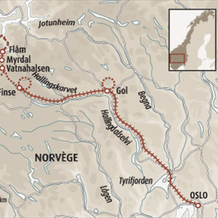 Circuit carte Norvège : De Oslo à Bergen en train mythique