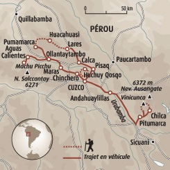 Circuit carte Pérou : De Cusco au Cerro Colorado