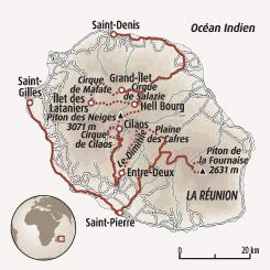 Circuit carte Réunion : Traversée intégrale de