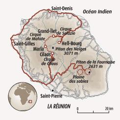 Circuit carte Réunion : Aventures créoles à La Réunion