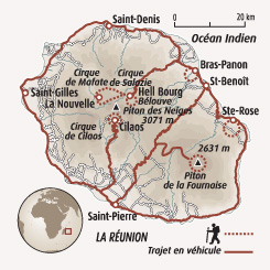 Circuit carte Réunion : Multi-activités à la Réunion