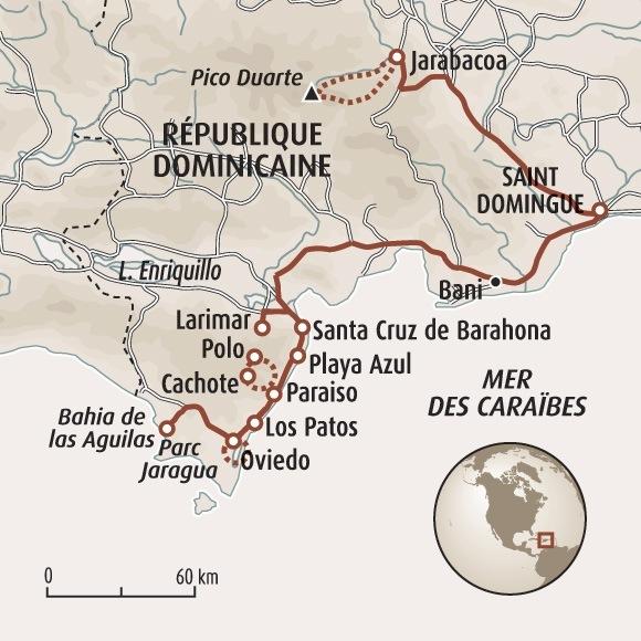 Circuit Carte Rpublique Dominicaine Rando Au Sommet Des Carabes