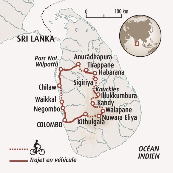 Sri Lanka Carte Ancien Nom.Le Triangle Culturel Du Sri Lanka A Velo