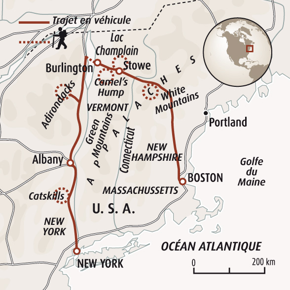 Info Boston Etats Unis Carte