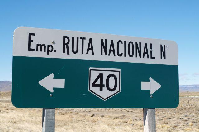 Route nationale 40 entre El Chalten et El Calafate - Patagonie - Argentine