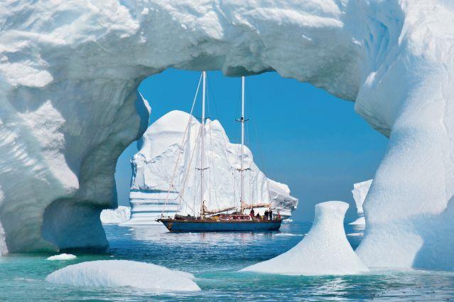 Le Vaihéré au large de la péninsule Antarctique
