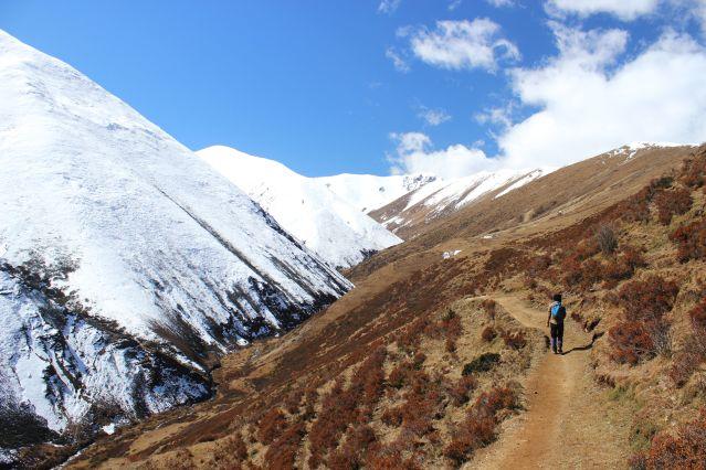 Descente après le col Yale La à 4820m - Bhoutan