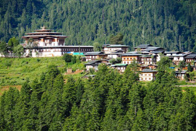 Dzong de Gangtey - Village de Gangtey - Vallée de Phobjikha - Bhoutan