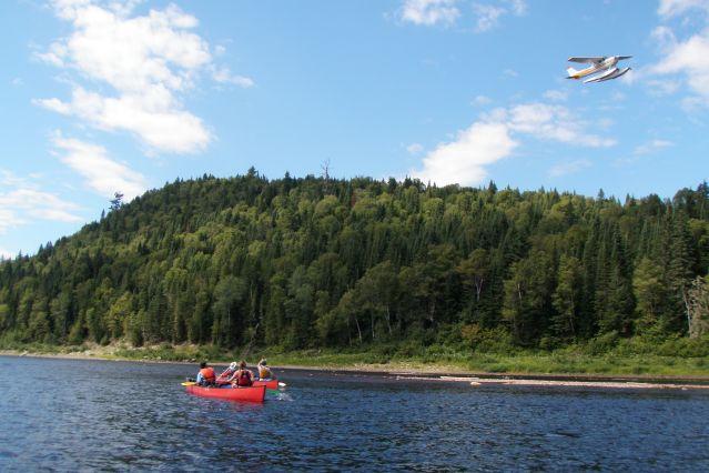 Canoë sur la rivière Bazin - Québec