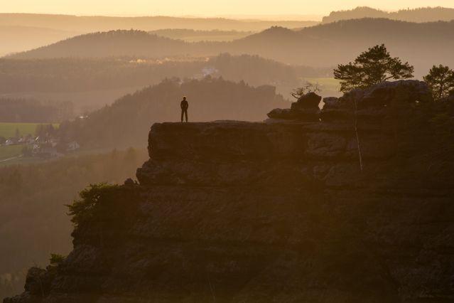 Coucher du soleil sur la Saxe bohemienne - République Tchèque