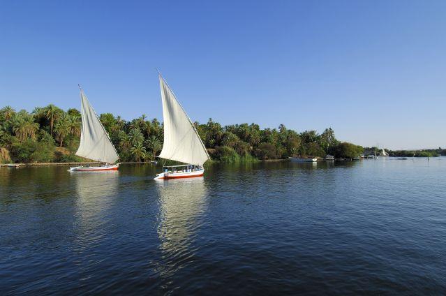 Felouques à Assouan - Vallée du Nil - Egypte