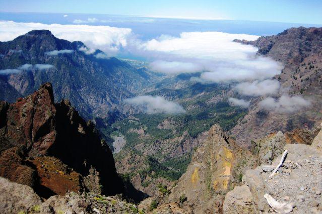 La caldeira de Taburiente vue depuis Roque de los Muchachos - La Palma - Iles Canaries
