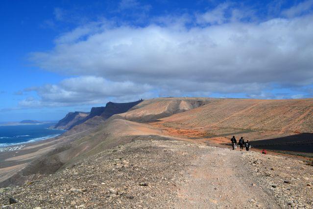 Randonnée dans les falaises Famara - Lanzarote - Îles Canaries - Espagne