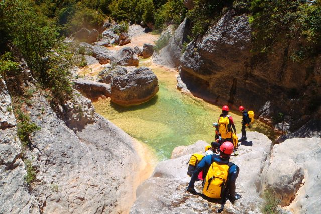 Canyoning en famille dans la Sierra de Guara - Espagne