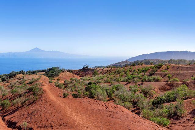 Vue sur Tenerife - La Gomera - Canaries - Espagne