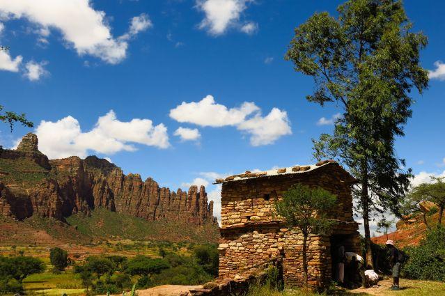 Maison traditionnelle dans le Massif du Gheralta dans la Région du Tigré - Ethiopie