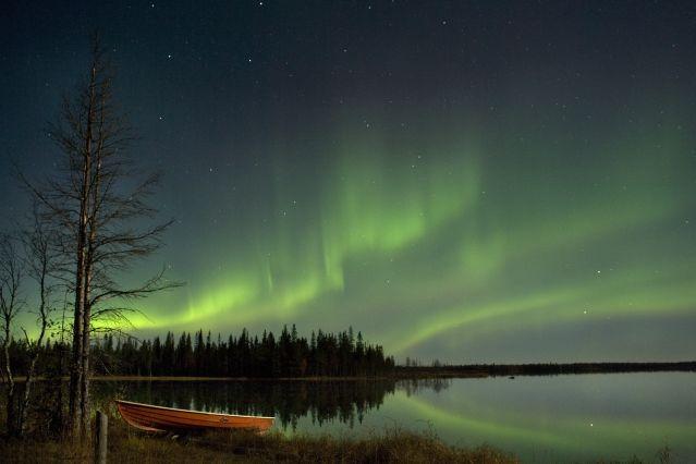 Aurore boréale à Kuusamo - Laponie - Finlande