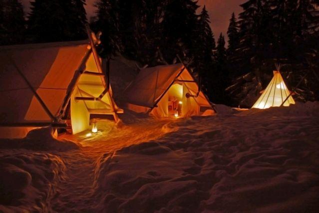 Campement dans le Massif des Bornes - France