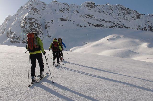 Glaciers de Haute Maurienne à ski - France