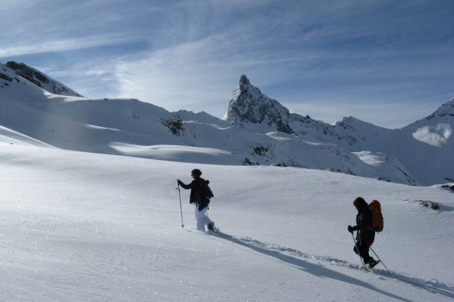 Randonnée raquette dans le massif du Queyras - France