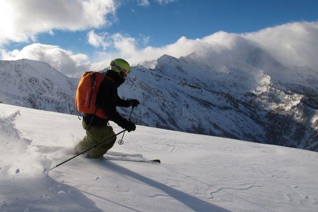 Ski freeride sur le domaine de Sestrières - Italie