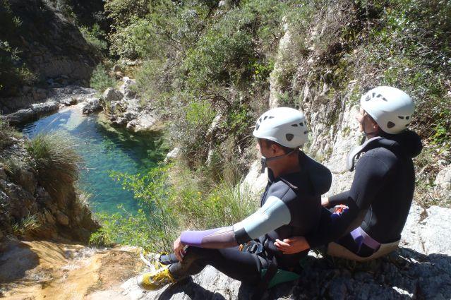 Canyoning dans la vallée de la Roya - France