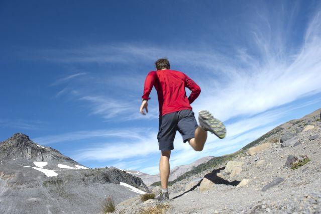 Trail dans les Alpes - France