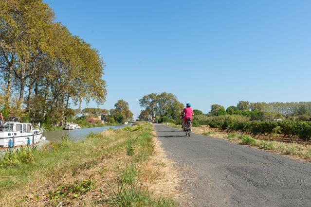 Vélo le long du canal du midi - France
