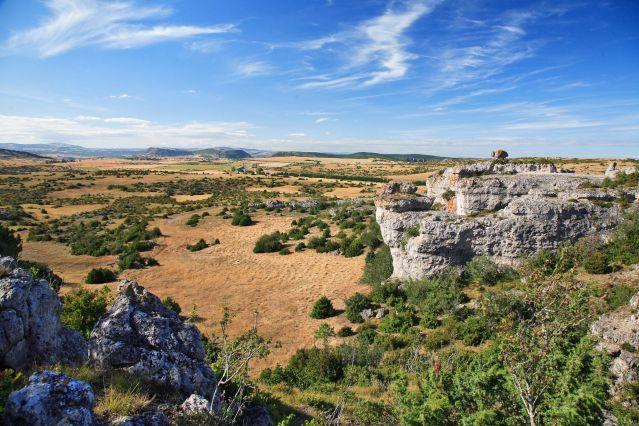 Panorama du Larzac - France