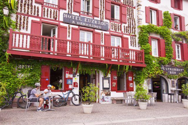 Une pause à Espelette - Pays-Basque - France