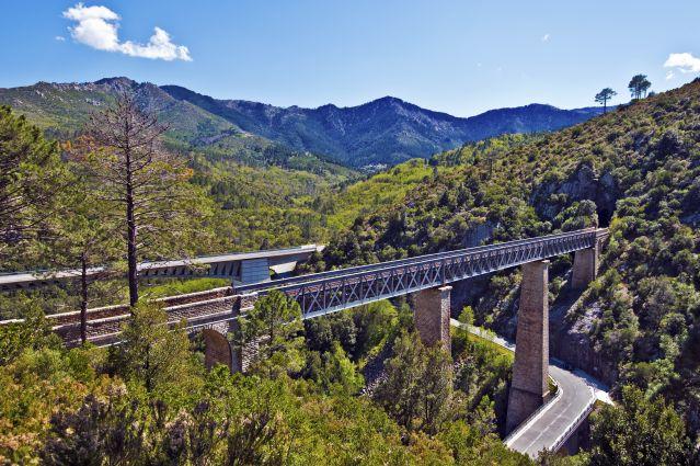 Gare ferroviaire au cœur de la nature - Corse - France