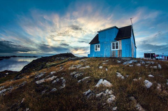 Village d Itilleq sur la côte Ouest du Groenland