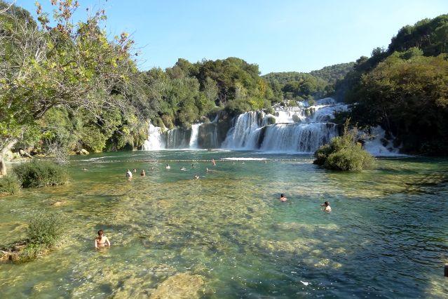 Baignade au parc national de Krka - Dalmatie - Croatie - Europe