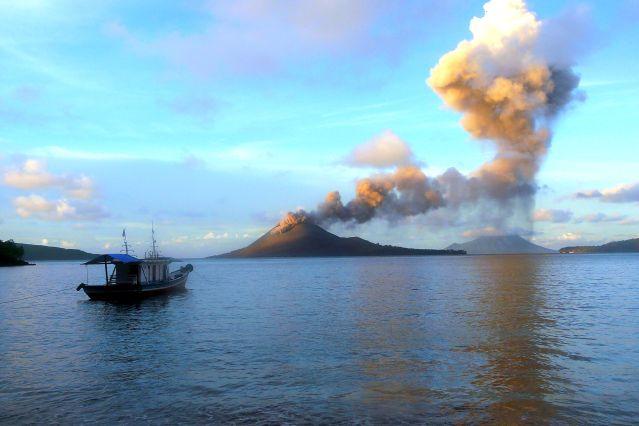 Le volcan Krakatoa - Indonésie