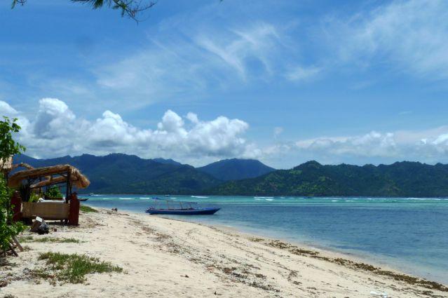Plage de l île de Gili - Indonésie
