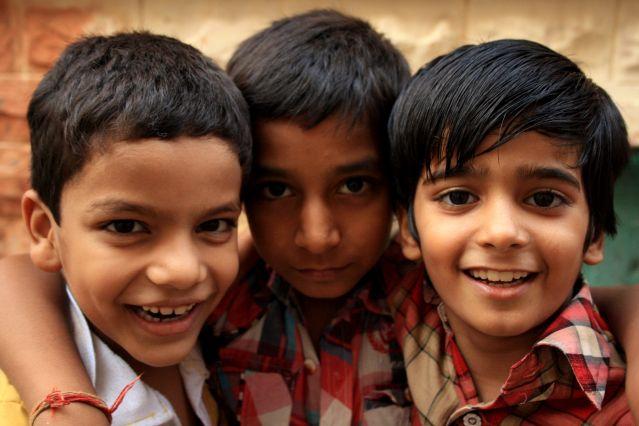 Portrait d enfants - Inde