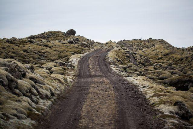 Route dans la région d Eldhraun - Islande