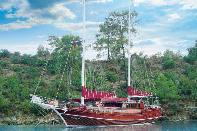 Le bateau Sundial durant la croisière au coeur des îles Eoliennes - Italie